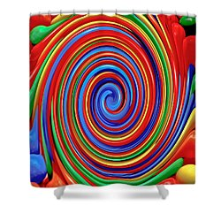 Celebrate Life And Have A Swirl Shower Curtain
