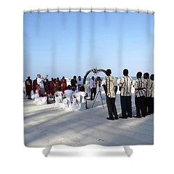 Celebrate Marriage In Kenya Shower Curtain