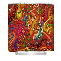 Celebrate The Moment Shower Curtain by Kevin Caudill