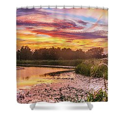Celebrating Sky Shower Curtain