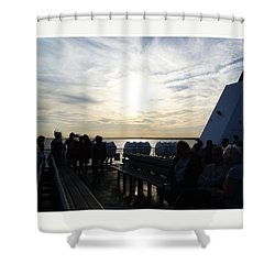 Celebrating The Sunset Shower Curtain