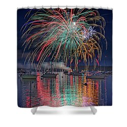 Shower Curtain featuring the photograph Celebration In Boothbay Harbor by Rick Berk