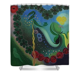 Shower Curtain featuring the painting Celebration Of Love  by Tone Aanderaa