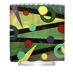 Celebration Shower Curtain by Teresa Wing
