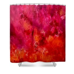 Celebrations Wedding Pink Abstract  Shower Curtain