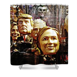Celebrity Bobbleheads 1 Shower Curtain