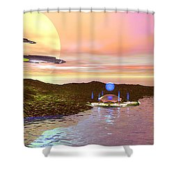 Celeron 3 Shower Curtain by Corey Ford