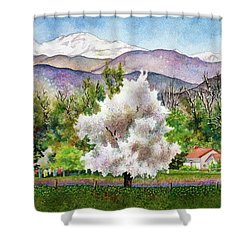 Celeste's Farm Shower Curtain
