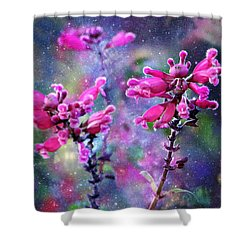 Celestial Blooms-2 Shower Curtain by Kathy M Krause