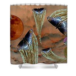 Celestial Butterflies Shower Curtain