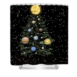Celestial Christmas Shower Curtain