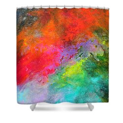 Fantasies In Space Series Painting. Celestial Concerto. Painting.  Shower Curtain