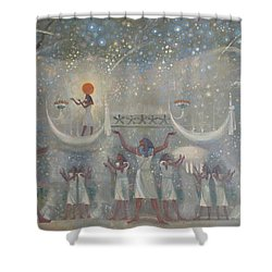 Celestial Cow Shower Curtain