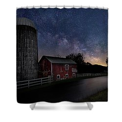 Shower Curtain featuring the photograph Celestial Farm by Bill Wakeley