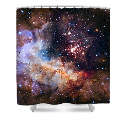 Celebrating Hubble's 25th Anniversary Shower Curtain by Nasa