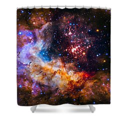 Celestial Fireworks Shower Curtain by Marco Oliveira