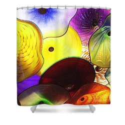 Celestial Glass 1 Shower Curtain by Xueling Zou