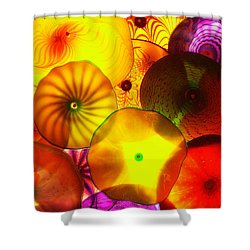 Celestial Glass 4 Shower Curtain by Xueling Zou