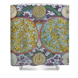 Celestial Map Of The Planets Shower Curtain by Georg Christoph Eimmart