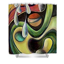 Celestial Rhythms  Shower Curtain by Jolanta Anna Karolska