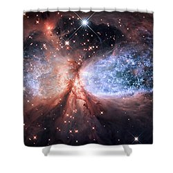 Shower Curtain featuring the photograph Celestial Snow Angel - Enhanced - Sharpless 2-106 by Adam Romanowicz