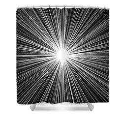 Celestial Sunburst Digital Art 1 Black And White Shower Curtain