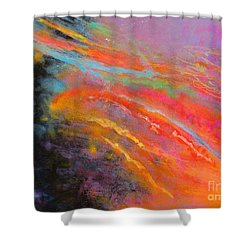 Fantasies In Space Series Painting. Celestial Symphony Shower Curtain