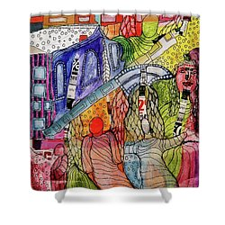 Celestial Windows Shower Curtain by Mimulux patricia no No