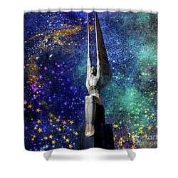 Celestial Winged Figures Of The Republic Shower Curtain