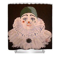 Celine The Clown Shower Curtain by Arlene  Wright-Correll