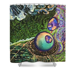 Cell Interior Microbiology Landscapes Series Shower Curtain