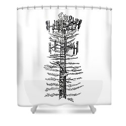 Cell Tree Tower Drawing Shower Curtain