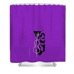 Cello In Purple Shower Curtain