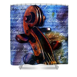 Cello Masters Shower Curtain by Gary Bodnar