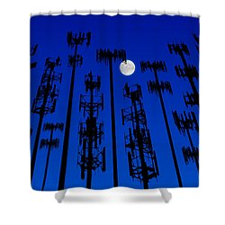 Cellphone Tower Forrest Shower Curtain