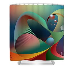 Cells Path Shower Curtain