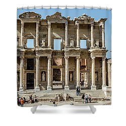 Celsus Library Shower Curtain