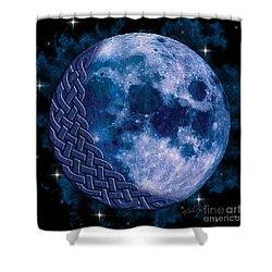 Celtic Blue Moon Shower Curtain