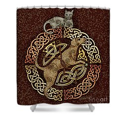 Celtic Cat And Dog Shower Curtain