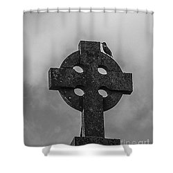 Celtic Cross #2 - Scotland Shower Curtain by Amy Fearn