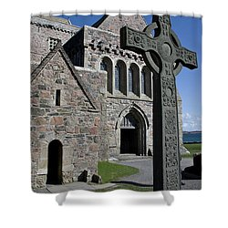 Celtic Cross, Iona, Scotland Shower Curtain