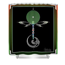 Celtic Dragonfly Shower Curtain