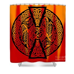 Celtic Dragons Fire Shower Curtain
