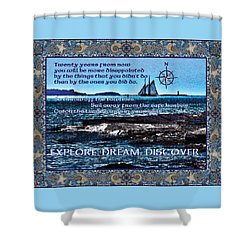 Celtic Explorer - Bluenose II In Halifax Harbour Shower Curtain