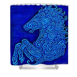 Celtic Horse Shower Curtain by Rebecca Wang