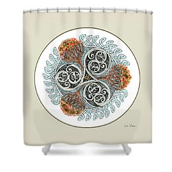 Celtic Inspired Button Shower Curtain