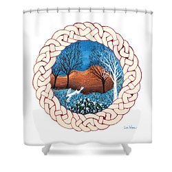 Celtic Knot With Bunny Shower Curtain