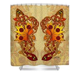 Celtic Loose Leaves Shower Curtain