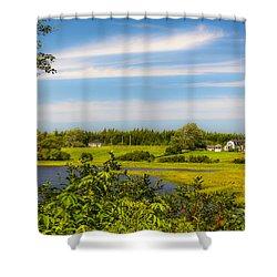 Celtic Shores Coastal Trail Shower Curtain by Ken Morris