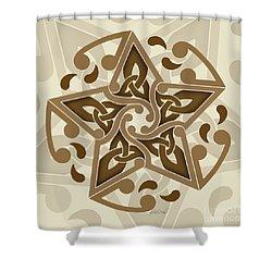 Celtic Star Shower Curtain